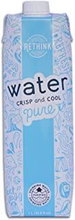 Rethink Water Bottled Water But Better, Pure Reverse Osmosis Filtered Water in a Recyclable and Sustainable Tetra Pak Aseptic Paperboard Carton, 33.8 Ounce (1 Liter) Cartons, 12 Count (Original)