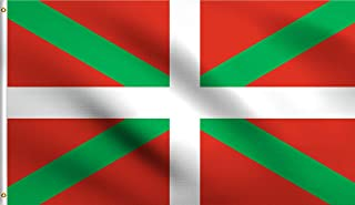 DMSE Basque Biscay Green St. Andrew's Cross Flag 3X5 Ft Foot 100% Polyester 100D Flag UV Resistant (3'X5' Ft Foot)