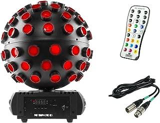 Chauvet DJ Rotosphere Q3 Rotating Mirror Ball Simulator + IRC Remote + 10' Cable