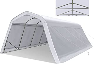 Tentking 2021 Upgraded 11x20ft Heavy Duty Carport with 12 Legs, Portable Garage with Reinforced Metal Frame and Extra-Thic...