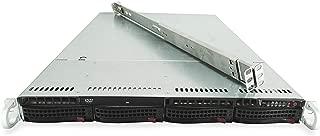 Supermicro SuperChassis CSE-815 4-Bay LFF 1U Server with X9DRi-LN4F+, 2X Xeon E5-2660 V2 2.2GHz 10C, 32GB DDR3, 4X 6TB 7.2K SAS 3.5 HDDs, 9265-8i, 1x 600W PSU, Rails (Certified Refurbished)