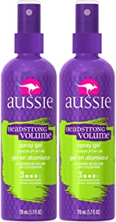 Aussie Headstrong Volume Spray Hair Gel, Maximum Hold - 5.7 oz - 2 pk