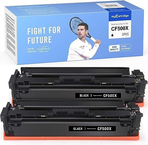 wholesale myCartridge Compatible Toner Cartridge Replacement for HP 202X 202A CF500X CF500A M254dw online M281fdw online sale Ink Printer(2-Black) outlet sale
