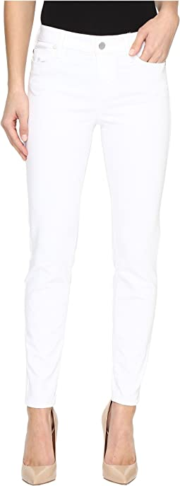 Liverpool Penny Ankle Skinny Vintage Slub Stretch Twill in Bright White