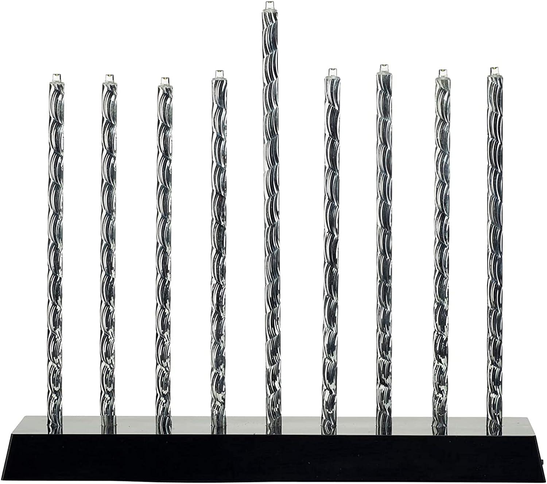 Rite Lite Diamond Cut LED Menorah with Exciting Lighting Options 10.50