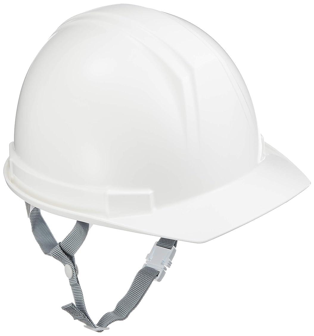 タニザワ ABS製前ひさし型ヘルメット 白 0169EZ