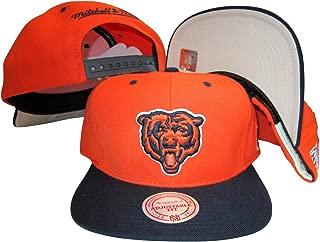 Mitchell & Ness Chicago Bears Orange/Navy Two Tone Snapback Adjustable Plastic Snap Back Hat/Cap