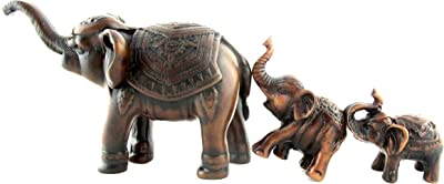 Plutus Brands Classy Resin Elephant Small with Red Blanket