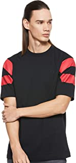 Fred Perry Mens Printed Sleeve Panel T-Shirt