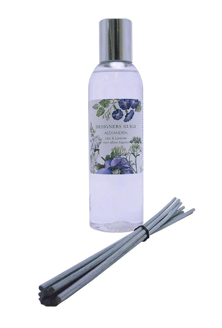 シャッター弱まる姓DESIGNERS GUILD リードディフューザー リフィル ALEXANDRIA - Amethyst Lilac & Lavender 200mL(スティック付)