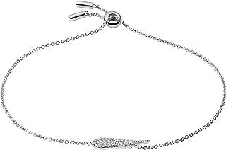 Fossil Pulsera de eslabones de plata de ley para mujer, JFS00534040