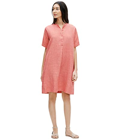 Eileen Fisher Mandarin Collar Dress (Bright Sandstone) Women