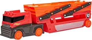 Hot Wheels Mega Hauler with Storage for Up to 50 1:64 Scale Cars, Ages 3+ 50th Anniversary Hot Wheels Graphics GHR48