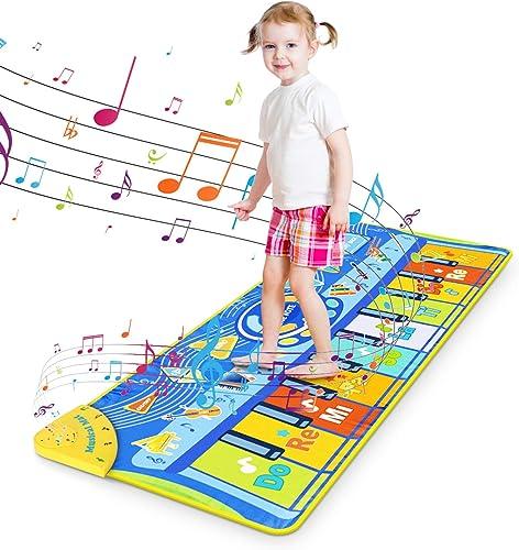 Tapis de Piano pour Enfant, RenFox Tapis de Jeu pour Piano Tapis Musical Bébé Piano Mat Tapis de Danse Musicale Instr...
