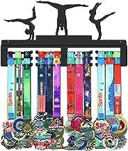 WEBIN Gymnastiek medaille ophanger houder display rack, zwart super hard staal metaal, wandmontage medailles