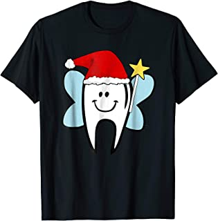 Tooth Fairy Christmas T-Shirt Dentist Teeth Santa Hat Gift