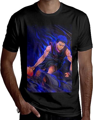 EricDCarl Kuroko's Basketball Daiki Aomine Short Sleeve T Shirt Men's Summer Cotton Crew Neck Tee Sports Tee