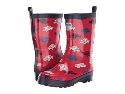 Hatley Kids Classic Pickup Truck Rain Boots (Toddler/Little Kid) (Red) Boy