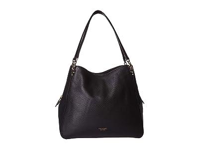 Kate Spade New York Hailey Large Shoulder Bag (Black) Shoulder Handbags