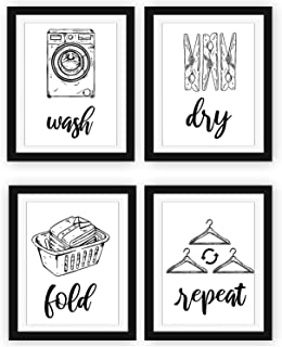 Laundry Family Meaning Funny Home Life Quote Wall Art Print Picture Black Decor