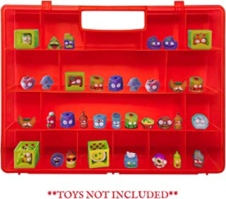 Life Made Better, Red Toy Organizer with New Stronger Handle, Compatible with Grossery Gang Figures, Kids' Toy Figures Case by LMB