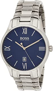 Hugo Boss Mens Quartz Watch, Analog Display and Stainless Steel Strap 1513487