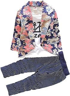 Hopscotch Baby Boys Cotton Floral Print Jacket and Pant Set