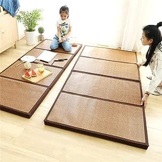 Foldable Mattress Thicken Bamboo Japanese Tatami Mat Cooling Rattan Floor Mat Dormitory Sleeping Pad Nursery Rug Exercise Mat for Meditation Space/Yoga/Zen Room/Japanese Tearoom 35.4
