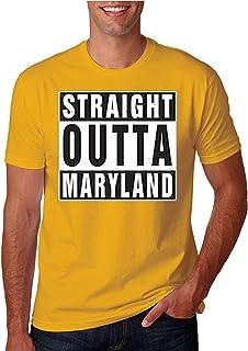 ZoDong Adult Unisex Straight Outta Maryland Funny Novelty Parody T-Shirt
