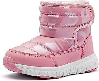 أحذية ثلج شتوية للأطفال مقاومة للماء في الهواء الطلق دافئة من الفرو الصناعي المبطن