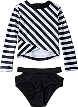 Oceana Long Sleeve Rashguard Set (Toddler/Little Kids/Big Kids)