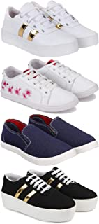 Zenwear Combo Pack of 4, Casual, Sneakers, Loafers Shoe for Women