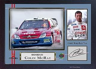S&E DESING Colin McRae Citroën World Rally Team Signed Autograph Photo Print Framed