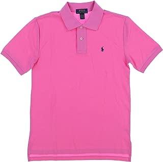 POLO RALPH LAUREN Boys Classic Fit Mesh Polo Shirt (Hammond Pink, Large (14-16))