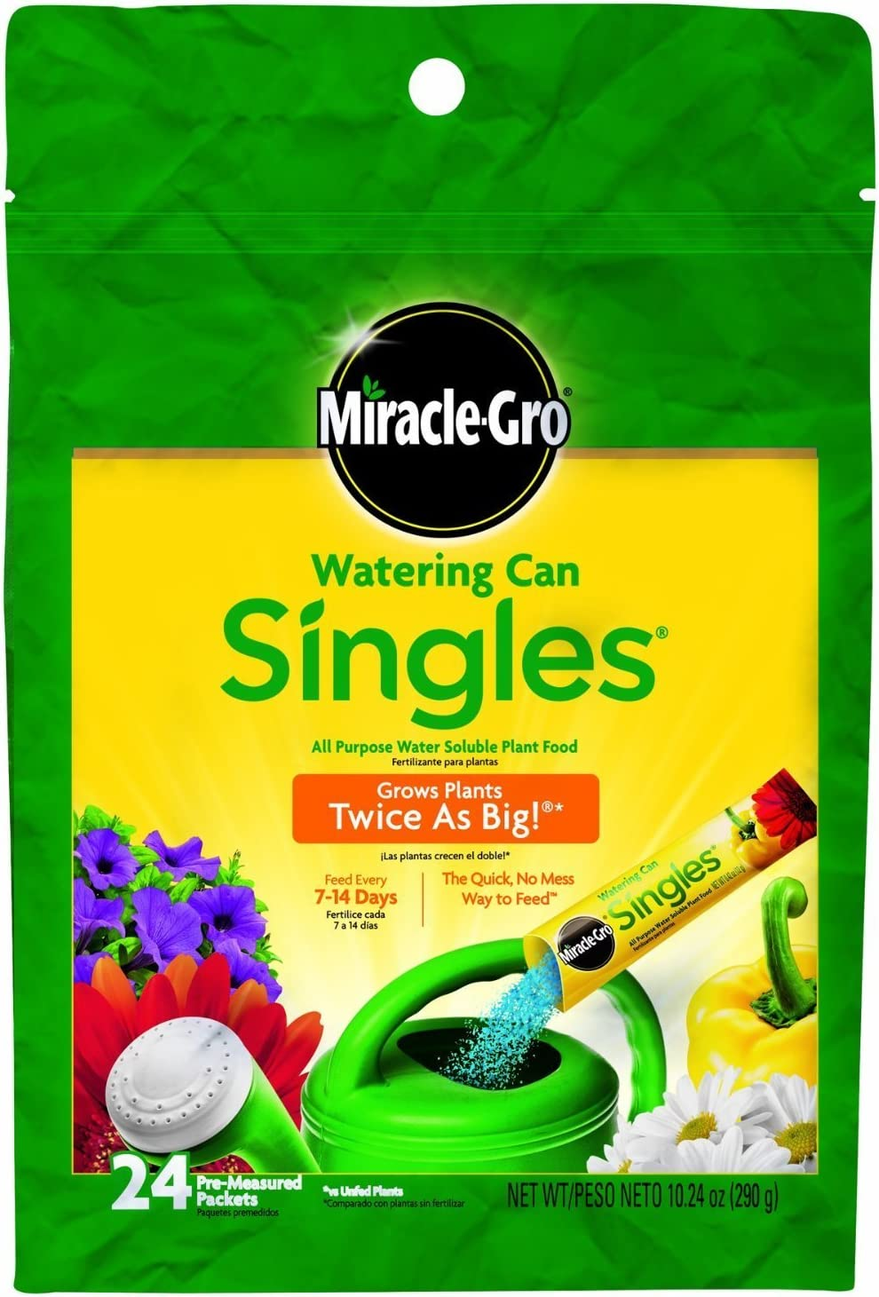 Miracle-Gro 1013202 Watering Very popular! Can Singles 24 - Includes Max 76% OFF Pre-Measu