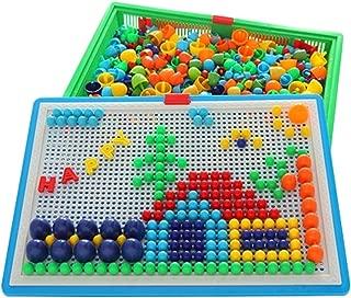 Kylin Express 620 PCS Intelligence Toys Insert Board Children Jigsaw Puzzles Mushroom Nails #