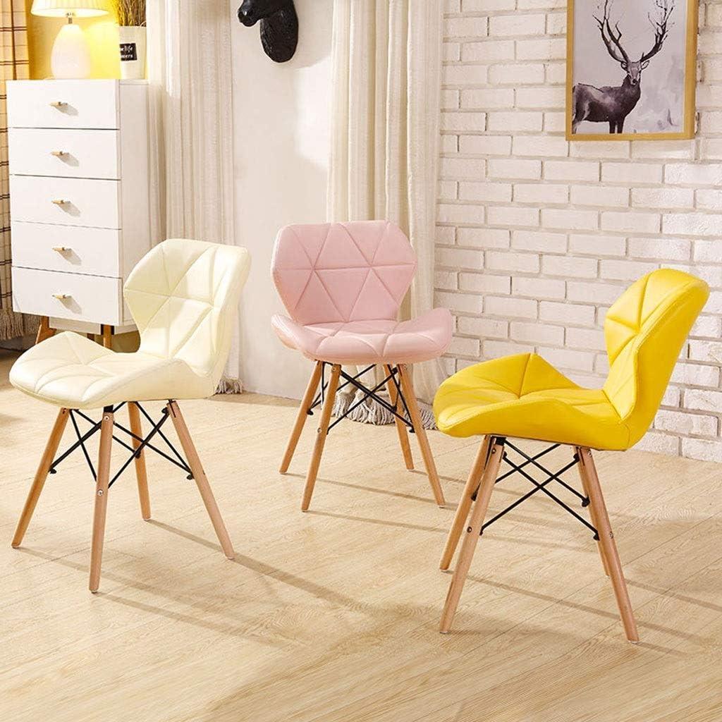 YUMUO Chaises de Salle à Manger Siège en Cuir Vintage et chaises à Pieds en Bois pour la Cuisine de la Chambre à Coucher du Salon (Couleur: Bleu Clair [amélioré]) 7