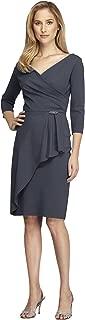 Alex Evenings Petite Sheath Dress with Asymmetric Overlay