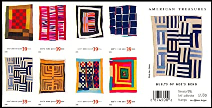 American Treasures Quilts of Gee's Bend Pane of 20 x 39 Cent Stamps Scott 4098b
