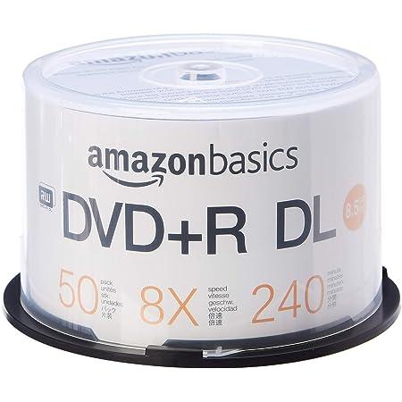 Amazon Com Amazon Basics 8 5gb 8x Blank Disks Dvd R Dl 50 Pack Spindle Electronics