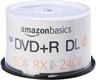 AmazonBasics 8.5GB 8x Blank Disks DVD+R DL - 50-Pack Spindle