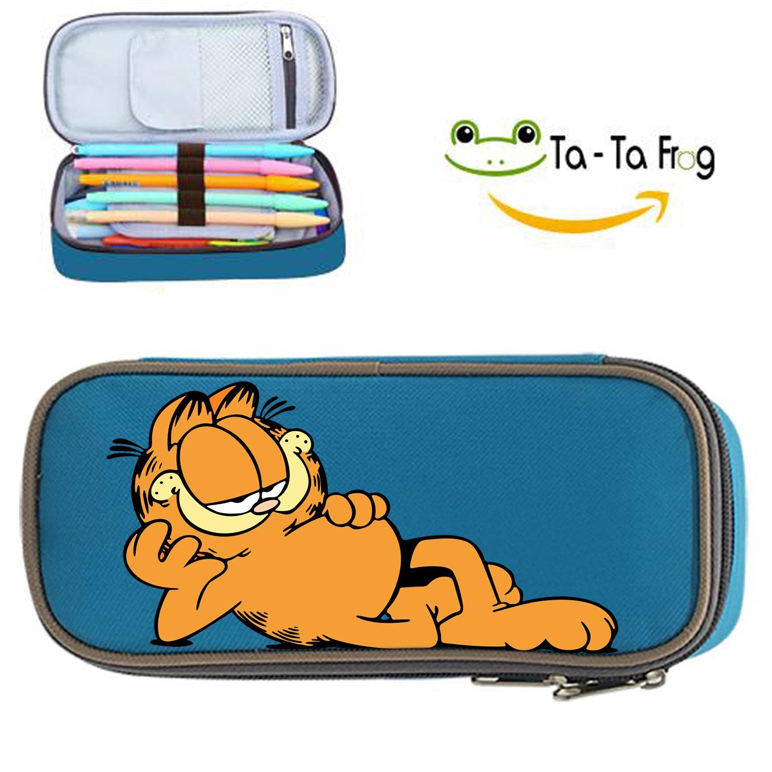 Garfield estuche Super gran capacidad caja de lápiz lápiz caso cosmético Bolsas de viaje bolsa de maquillaje: Amazon.es: Oficina y papelería