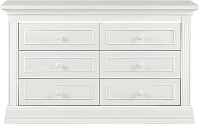 Baby Cache Montana 6 Drawer Dresser In Glazed White