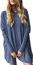 Tomsweet Women Mini Dress Knit Pullover Long Sweater Jumper Short Dress Long Shirt Batwing Tops Sexy Elegant Autumn Winter