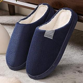 COQUI Pantuflas de algodón de las mujeres de invierno casa antideslizante de suela gruesa cálida linda pareja zapatillas