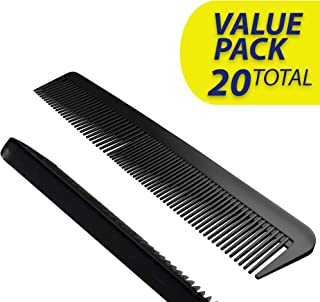 20 PACK! Hotel Quality Hair Comb Set Pocket Size for Men, 6