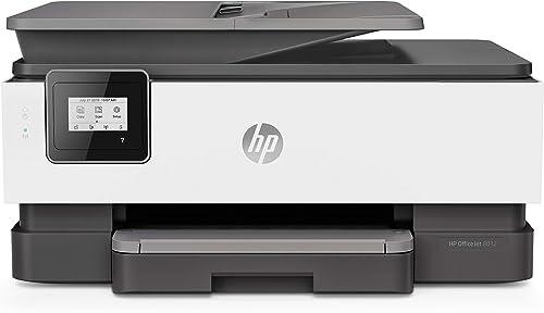 HP OfficeJet 8012 Imprimante Multifonction (Jet d'encre, Couleurs, Wi-Fi, Jusqu'à 18 ppm, Recto-Verso, A4) Instant In...