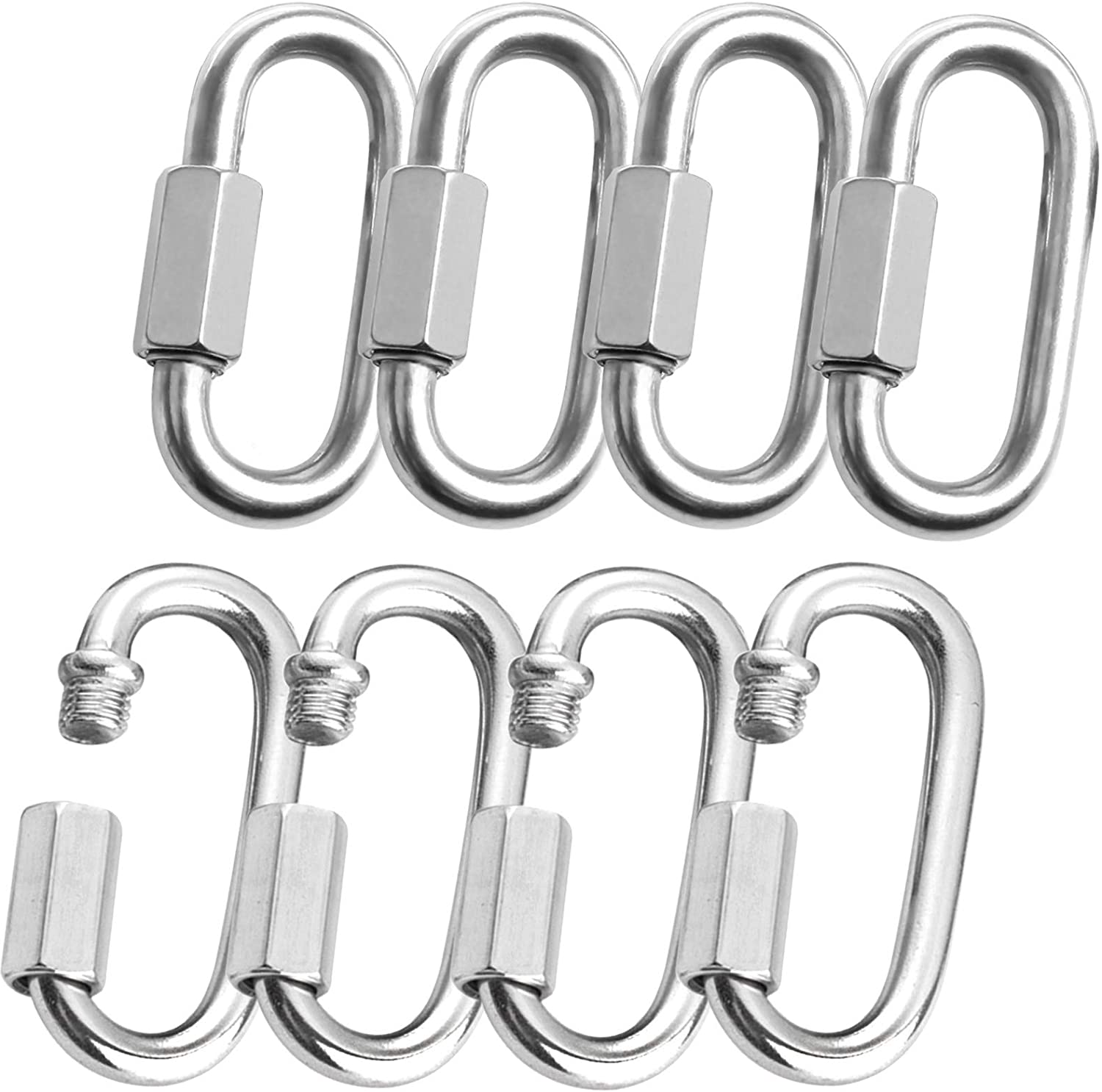 6mm Stainless Steel Oval Quick 8pcs Link Max 64% OFF STARVAST Animer and price revision Carabiner M6