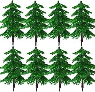 BESTZY 8 st modellträd blandade modeller träd dioramaträd träd järnväg landskap för gör-det-själv landskap naturgrön (60 mm)