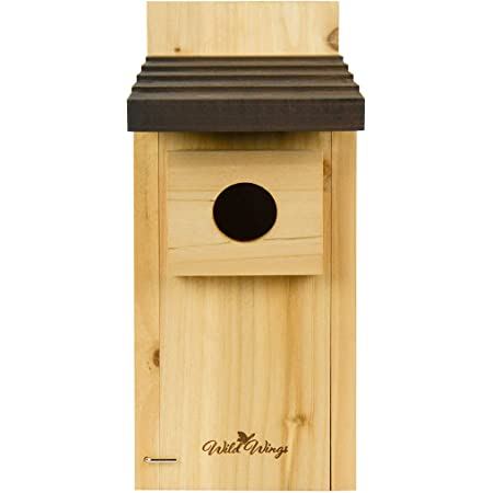 Amazon Com Bird House Bluebird Finch Wren Chickadee Tree Swallow Bird Wild Birds Even A Woodpecker House Made In Usa From All Natural Western Red Cedar Add Some Life To Your